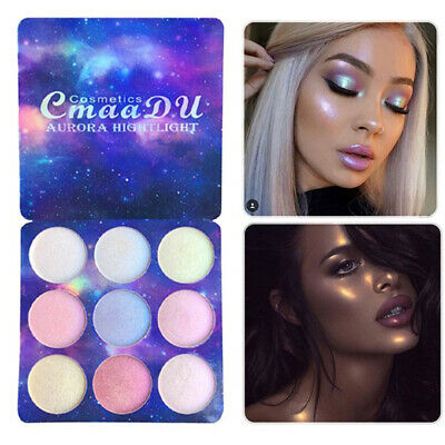 9 Colors Pearl Glitter Eye Shadow Powder Palette Matt Eyeshadow Cosmetic Makeup Bronzers & Highlighters