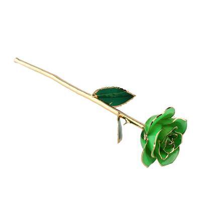 Gold Rose Gold Rose  Forever Long Stem Dipped 24k Rose Foil Trim Gifts