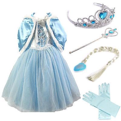 Frozen Costume Accessories (Girls Cosplay  Elsa Costume Kids Princess Anna Party Dresses +)