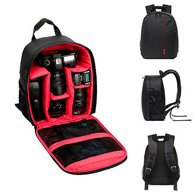 Waterproof DSLR Camera Backpack Shoulder Bag Case For Canon For Nikon For Sony