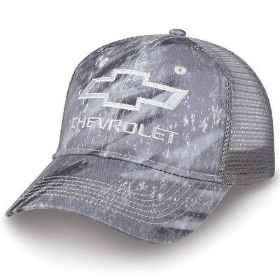Chevrolet Realtree Fishing Gray Camo Mesh Hat