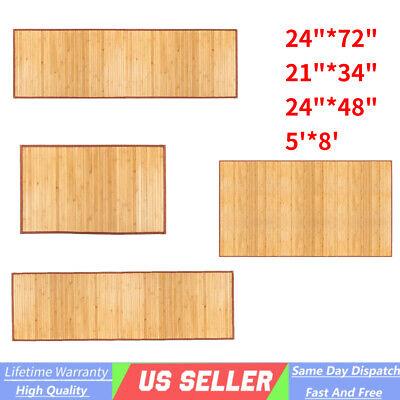 Bamboo Floor Mat Area Rug Kitchen Runner Bathroom Matting Bath Mat Living Room Field Floor Mat