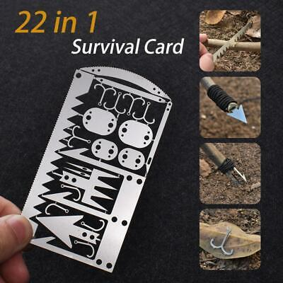 BEST Multi Tool Card Survival Wallet Sized Camping Hiking Emergency Kit EDC Gear