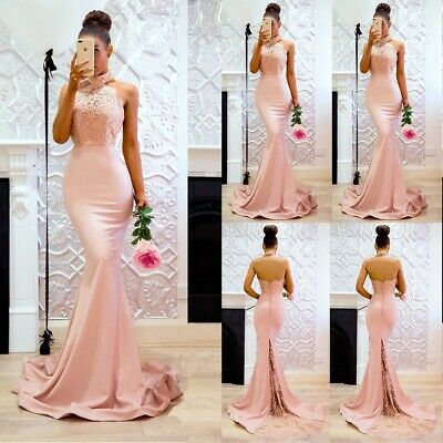 Women Sexy Mermaid Formal Wedding Dress Backless Long Evening Party Prom Gown ()