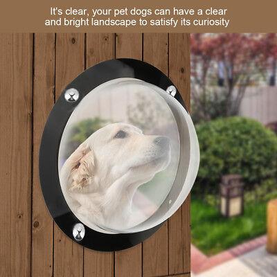 Durable Pets Dogs Cats Fence Window Acrylic Pet Peek Fence Lookout Sight Window