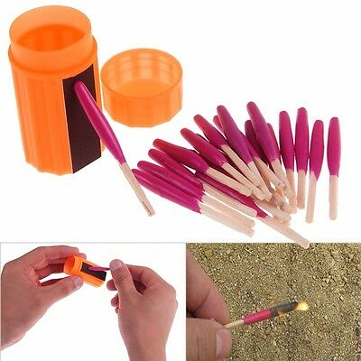 Portable WindProof Storm Matches Emergency Survival Tool Camping Hiking Gear