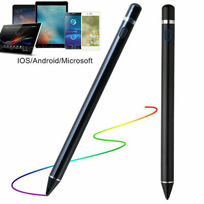 Digital Active Stylus Pen Pencil for Apple iPad Touchscreen Fine Tip 1.5mm Black