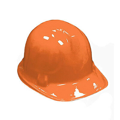 12 Pack Kid's Plastic Construction Hard Hat Party Costume Accessories ORANGE
