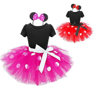 Baby Girls Xmas Birthday Party Minnie Mouse Tutu Fancy Dress Up Costume Outfits (Dress Up Outfits)