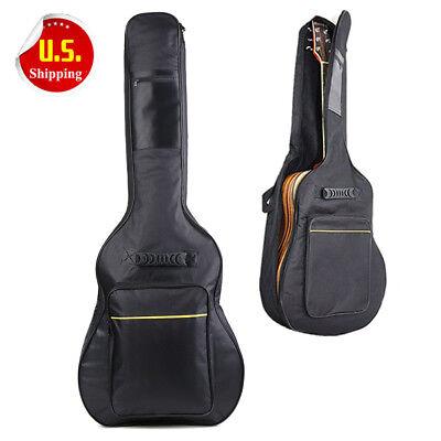 """41"""" Dual Adjustable Shoulder Strap Acoustic Guitar Soft Case Cover Gig Bag BT"""