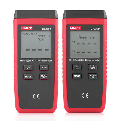 Small -50-1300 Contact Digital Kj Thermocouple Thermometer Wlcd Display Lj