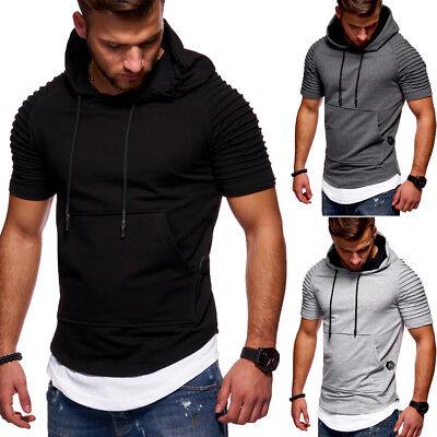 BEHYPE Hooded T-Shirt Oversize Biker Style Longline Schwarz/Grau/Navy/Weiß NEU