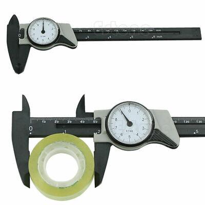 - 1pc Dial Caliper Plastic Vernier Caliper 4 Way Gauge Micrometer 150mm 6inch