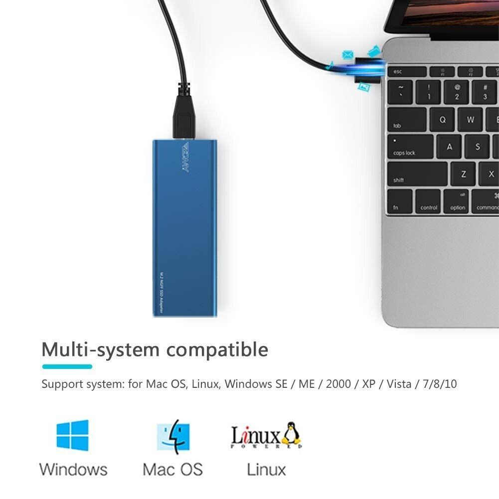 M 2 SATA SSD to USB 3 0 External SSD Reader Converter Adapter Enclosure    in Newton Abbot, Devon   Gumtree