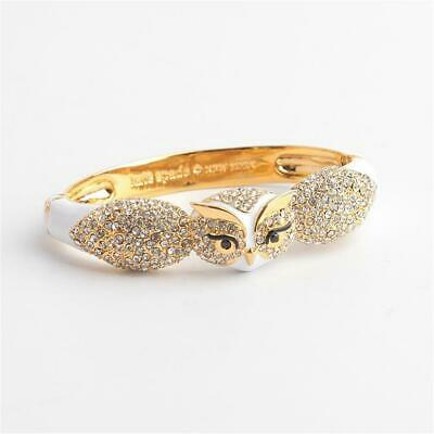 Kate Spade New York Star Bright Owl Bangle Bracelet White multi