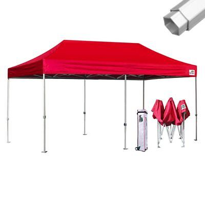 Eurmax Pop Up Canopy PRO 10x20 Commercial Tent Aluminum Party Shade w/Roller Bag ()