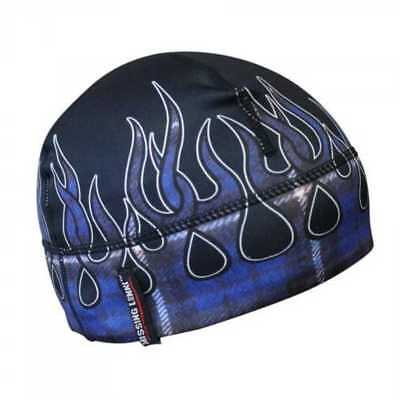 Missing Link Blue Flames Flannel GasCap Beanie Hat Skull Cap GCBF