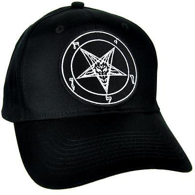 Sabbatic Baphomet Chèvre Tête Casquette de Baseball Occulte Vêtements Satanique