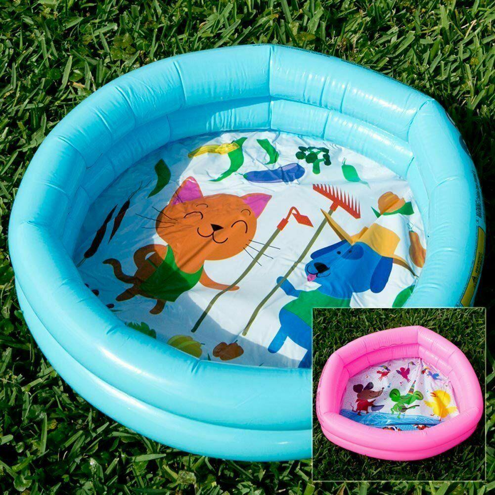 1PC Bestway H2O Go! Round 2-Ring Kiddie Pool Assorted Color