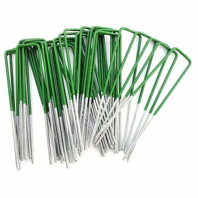 600 x Artificial Grass Galvanised Staples  Pins Securing Pegs U