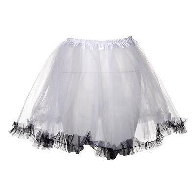 ack 80s Neon Fancy Dress Hen Party Trimmed Adults Tutu Skirt (Neon Blue Tutu)