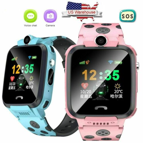 Kids Smartwatch GPS Tracker Smart Watch Phone SOS Two Way Call for iOS Android Jewelry & Watches
