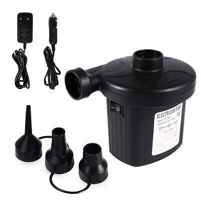12V Electric Air Pump Inflator Deflator - AC Wall Plug and DC Car Lighter Plug  12v Ac Lighter Plug