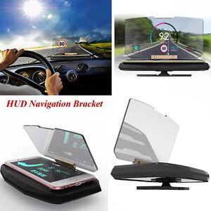 Universal Car Mobile GPS HUD Navigation Head Up Display Phone Holder Bracket