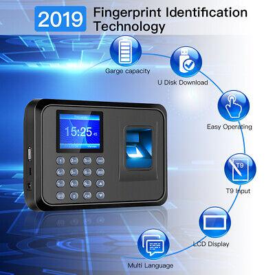 Fingerprint Biometric Time Attendance System Machine 2.4 Tft Lcd Vivid Sound