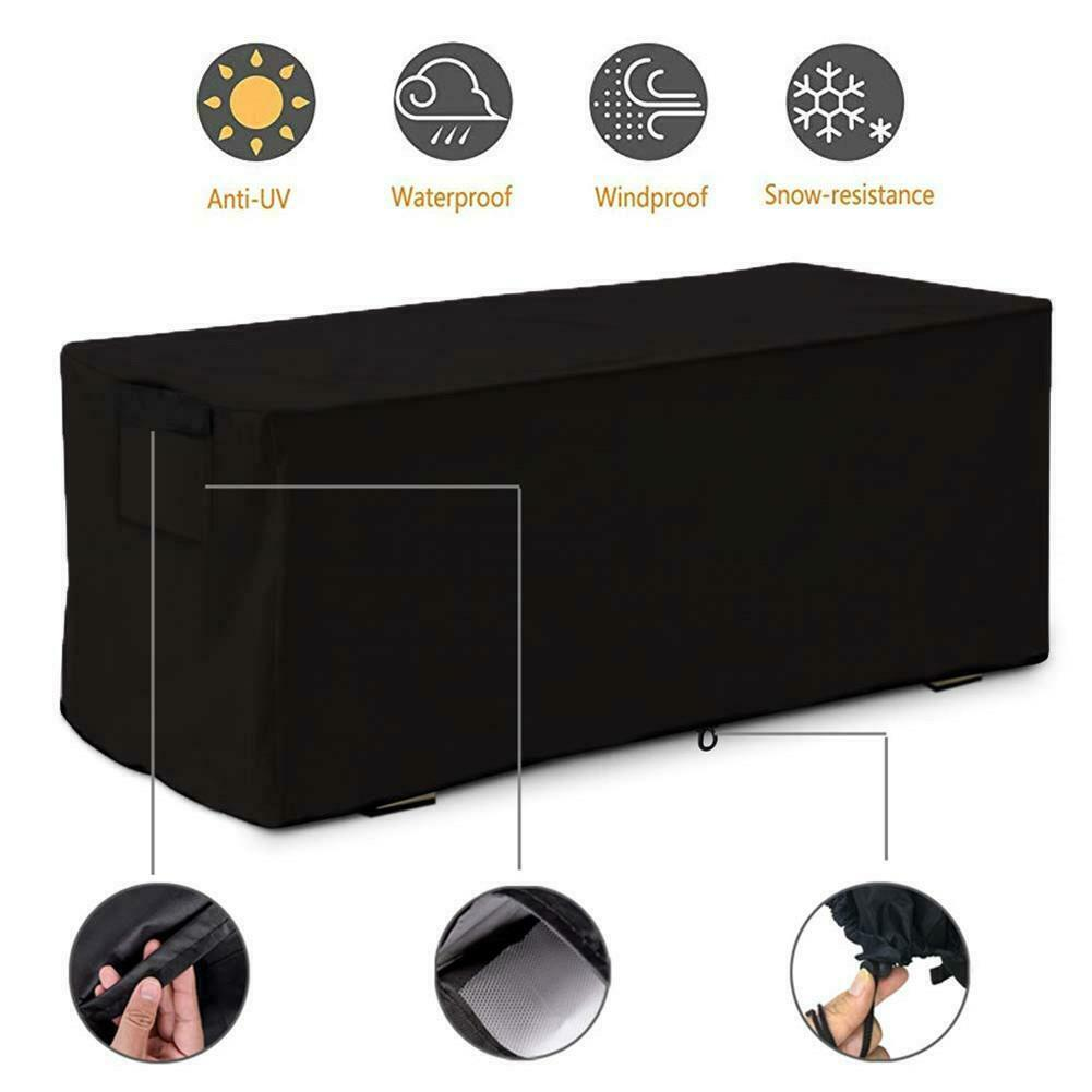 Patio Large Deck Box Cover Outdoor Storage Container Cover C