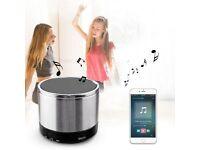 Bluetooth Speaker Lark Bird Mini Stereo Wireless Portable Silver Speaker 5-hour