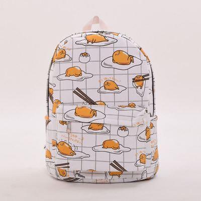1pc Canvas Backpack School Bag Hot Anime Gudetama Egg Print  Rucksack Unisex (1 Backpack)