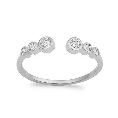 half eternity ring band bezel set round