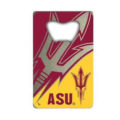Arizona State Credit Card - Arizona State Sun Devils Steel Credit Card Bottle Opener
