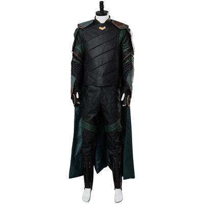 2017 Thor: Ragnarok Loki Tom Hiddleston Cosplay Costume Uniform Suit Outfit Cape](Black Toms Outfit)