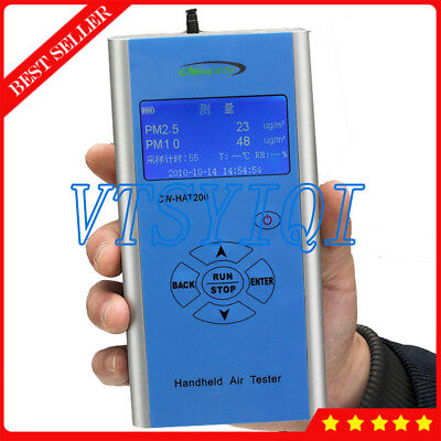 Handheld Portable Particle Counter Pm2.5 Pm10 Meter Detector Air Quality Monitor