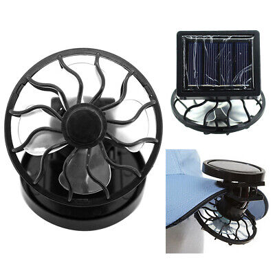 Electric Solar Powered Portable Cooling Fan Clip-on Table Tr