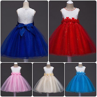 Flower Girls Dress Shiny Tulle Formal Party Bridesmaid Wedding Dresses for Kids