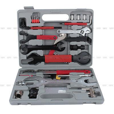 44x Fahrrad Werkzeugkoffer Werkzeugtasche Werkzeug Bike Reparatur Tool Box TOLL