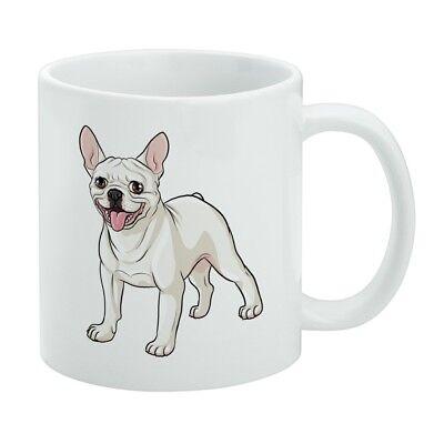 French Bulldog Smiling Pet Dog White Mug - French White-mug
