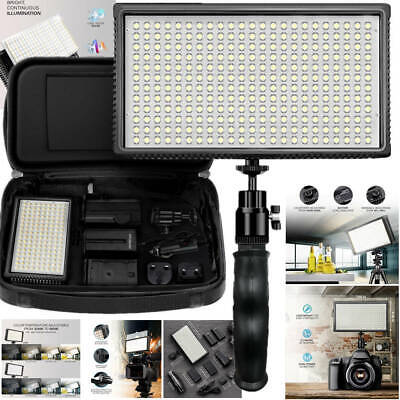 Dimmable 312 LED Light With Hand Grip Camera Camcorder Video Lights Photography