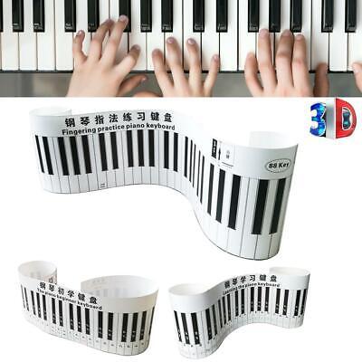 Piano Keyboard Paper (Simulation Keyboard 88 Keys Printed Piano Keyboard Table Finger Exercise)
