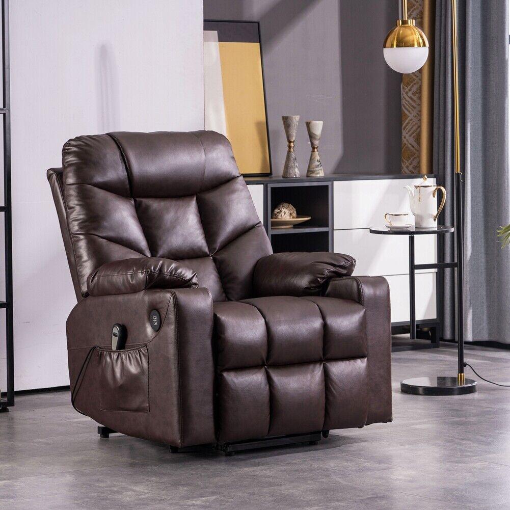 Elektrischer Stuhl Relaxsessel Massagesessel Fernsehsessel Vibration Heizung USB