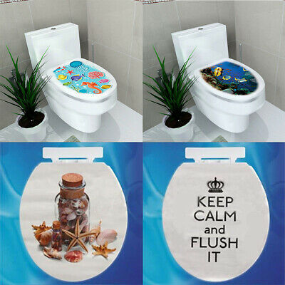 Home Decoration - Removable Toilet Seat WC Bathroom Art Vinyl Home Decals Decor Wall Sticker DIY