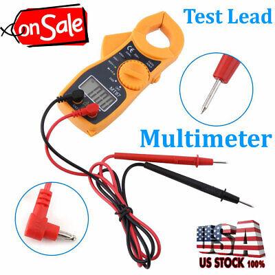 Digital Clamp Meter Multimeter Voltmeter Auto Range Volt Ohm Amp Tester Ac Dc Us