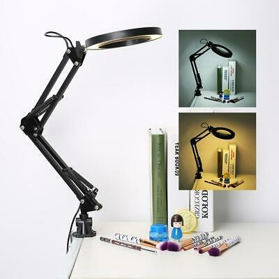 Lupa con Luz 100 Led Lampara Lupas de Aumento Plegable 5X para...