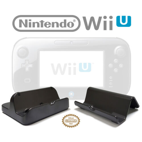 Genuine Nintendo Wii U GamePad Stand and Charging Cradle Set WUP-014 016