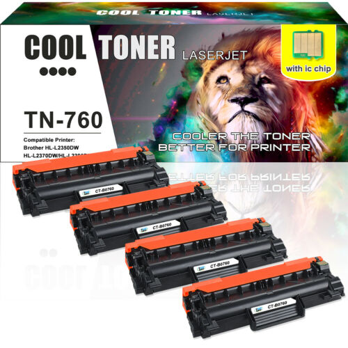 4PK Compatible for Brother TN760 Toner TN730 MFC-L2710DW HL-L2730DW MFC-L2750DW