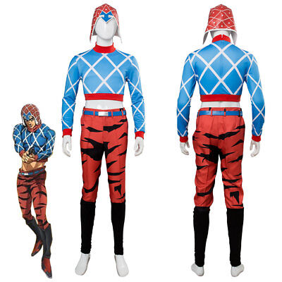 Cosplay JoJo's Bizarre Adventure: Golden Wind Guido Mista Costume Halloween Suit - Guido Halloween Costumes