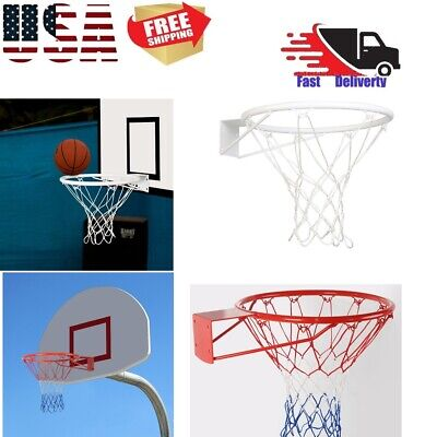 "Basketball Ring Hoop Net 18"" Wall Mounted Outdoor Hanging Basket Professional US"